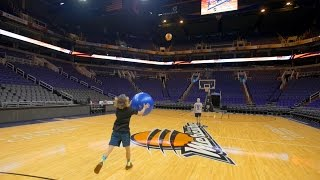 CRAZY Trick Shots in NBA ARENA!