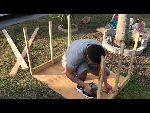 Building The Stable For NATIVITY Scene