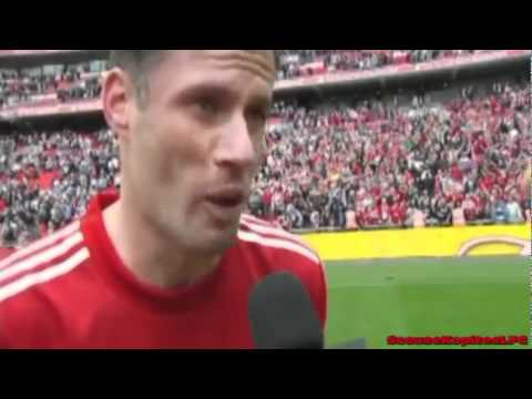 Jamie Carragher Interview after Liverpool vs Everton Fa Cup Semi Final