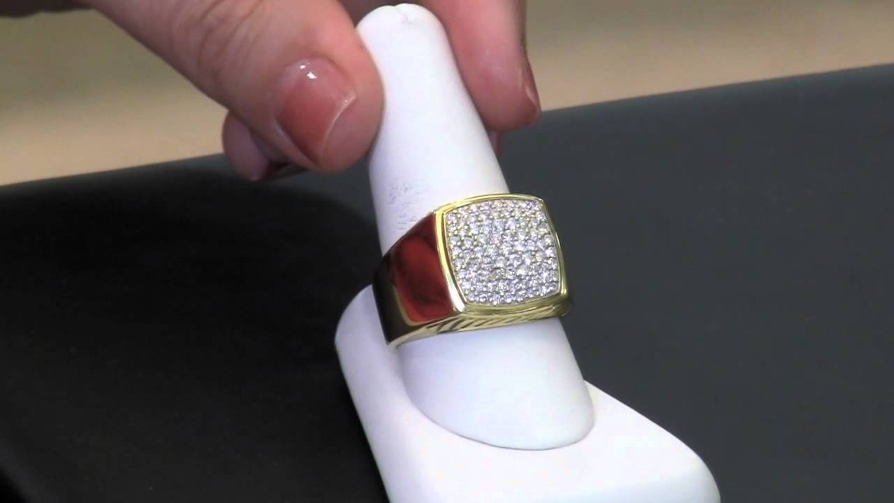 Deal Of The Month: David Yurman Pave Signet Diamond Menu0027s Ring   YouTube