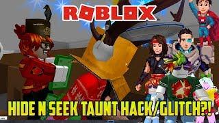 HIDE AND SEEK TAUNT GLITCH?! | Roblox Hide and Seek