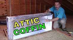 The only way to insulate pull down attic steps