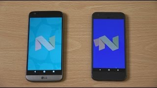 LG G5 Android 7.1 vs Google Pixel - Speed Test!