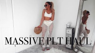 MASSIVE SUMMER PRETTY LITTLE THING HAUL // & Try-on