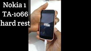 Nokia 1 hard reset Nokia TA-1066 pattern unlock done
