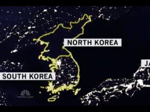 Dprk At Night Satellite Photo Youtube