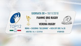 TOP12 2018/19, Giornata 8 - Fiamme Oro Rugby v Verona Rugby