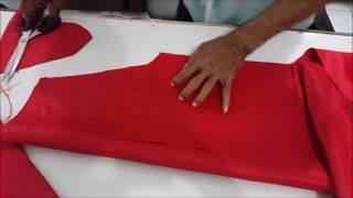 Cara membuat pola dan menjahit baju rompi anak laki laki LANGKAH I MEMOTONG KAIN SESUAI DENGAN POLA