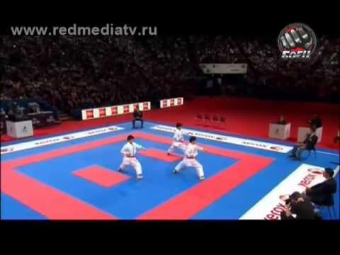 Финал Чемпионат Мира каратэ 2012г сборная Японии КАТА