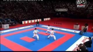 Финал Чемпионат Мира каратэ 2012г сборная Японии КАТА(ТЕЛЕКАНАЛ