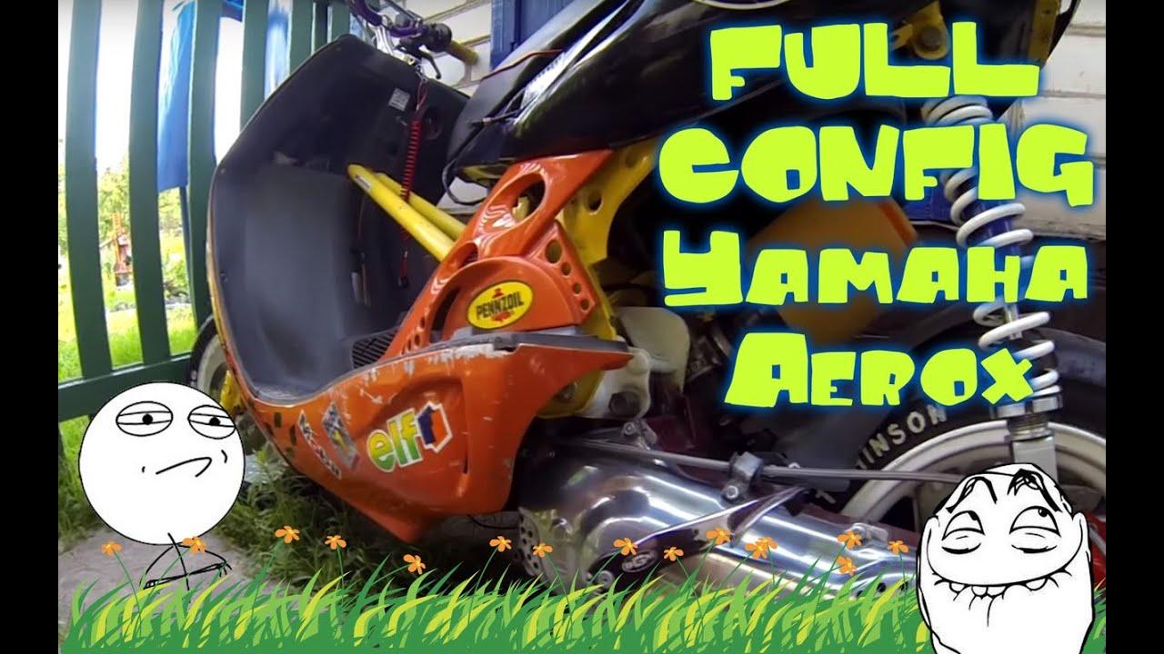 Обзор скутера Yamaha Aerox - YouTube