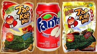 Необычные Японские Чипсы и Fanta Яблоко