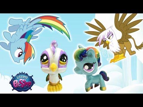 Custom LPS Rainbow Dash & Gilda The Griffon || My Little Pony + Littlest Pet Shop Mashup