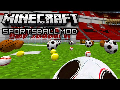 SPORTSBALL IN MINECRAFT! (Sports Mod Showcase)