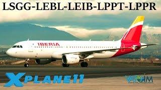 X-Plane 11 | Showing Spain/Portugal some Love! | LSGG-LEBL-LEIB-LPPT-LPPR | B757 A320 B737 | VATSIM