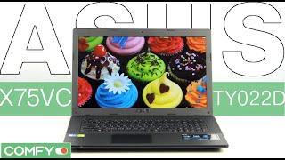 asus X75VC-TY022D - ноутбук с мощным процессором и большим экраном- Видеодемонстрация от Comfy