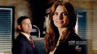 "Castle 8x08  Beckett Hey Rick Thanks for Today ""Mr. & Mrs. Castle"""