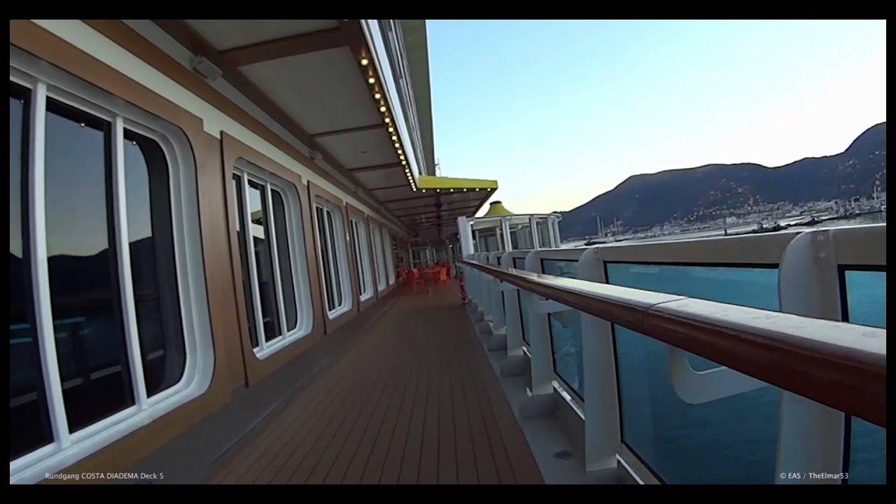 Rundgang costa diadema deck 5 youtube for Deckplan costa diadema