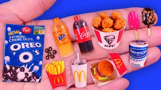 13 DIY Miniature Food and Drink Hacks & Crafts~ Oreo's, kfc, Mcdonalds and More~~