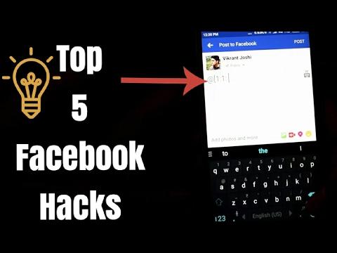 Top 5 New Facebook Hacks, You Should Know 2017|Facebook latest tricks|facebook tutorialVikrant Joshi