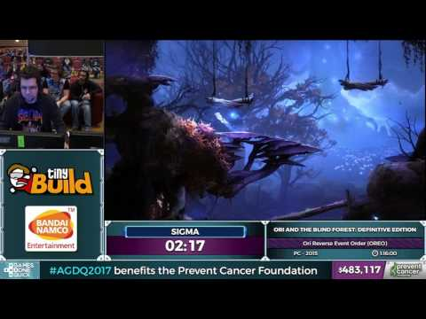 Ori and the Blind Forest by sigma in 0:55:35 - AGDQ2017 - Part 88