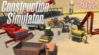 Construction Simulator 2012 Vehicles Gameplay PC HD