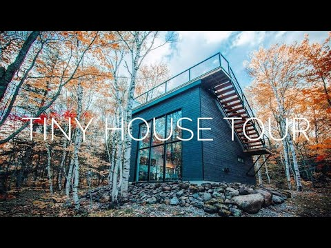 Tour of a Tiny House In the Quebec Forest.