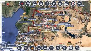 Обзор карты боевых действий в Сирии от  09. 10. 15.