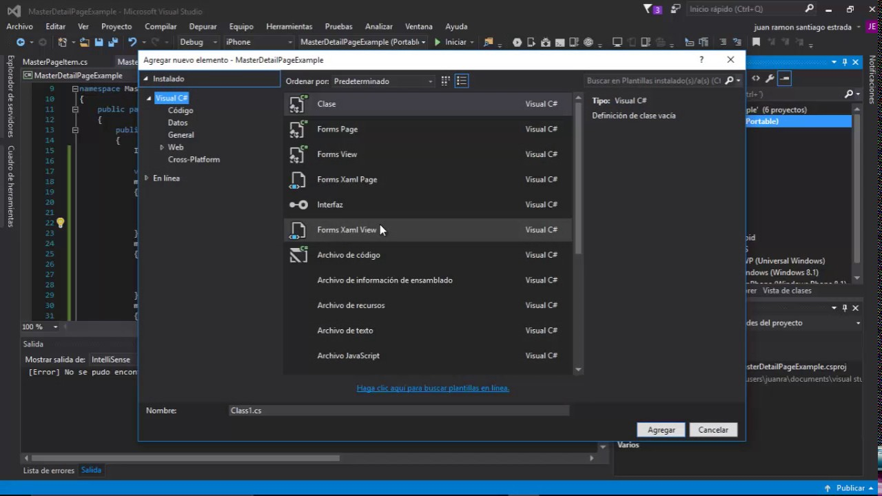 Master-Detail Page Example Xamarin Forms - YouTube