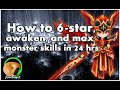 SUMMONERS WAR : How to 6-star, awaken, and max monster skills in 24-hours