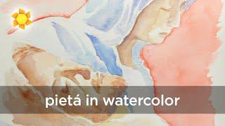 Good Friday: Pietá in watercolor