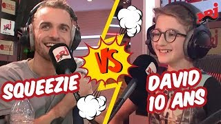 Squeezie clashé en direct par David - Guillaume Radio sur NRJ