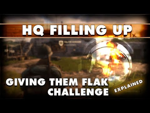 CoD WW2:  Headquarters Has People In It Again  - Giving Them Flak Headquarters Challenge Explained