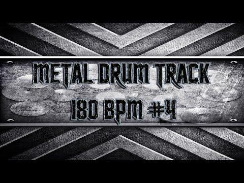 Heavy Metal Drum Track 180 BPM (HQ,HD)