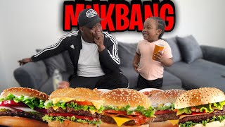 Hamburger Mukbang W/ My 4 Year Old Son . . . | He Told Me WHERE BABIES COME FROM SMH ( MUST WATCH )