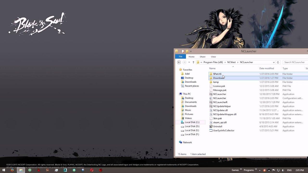 Blade & Soul NCLauncher Error E02024 Fix