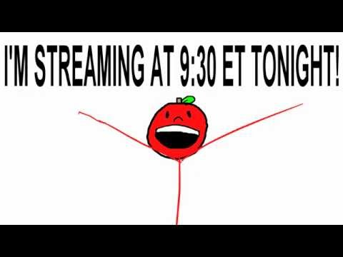 STREAMING TONIGHT AT 9:30 Eastern Time!  GO TO https://www.twitch.tv/funkyappleanims