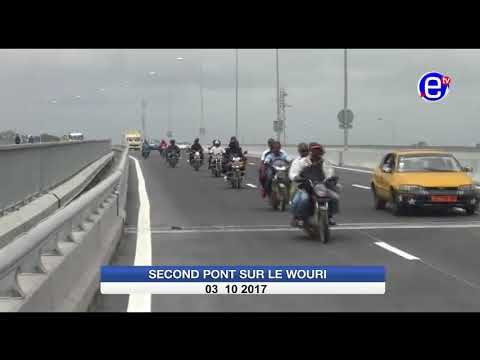 Douala: Second pont sur le wouri ouvert A la circulation. Equinoxe tv