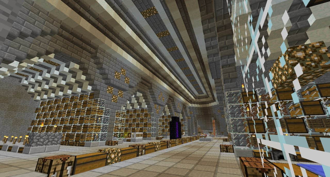 & Minecraft Massive Server Storage Hall - YouTube