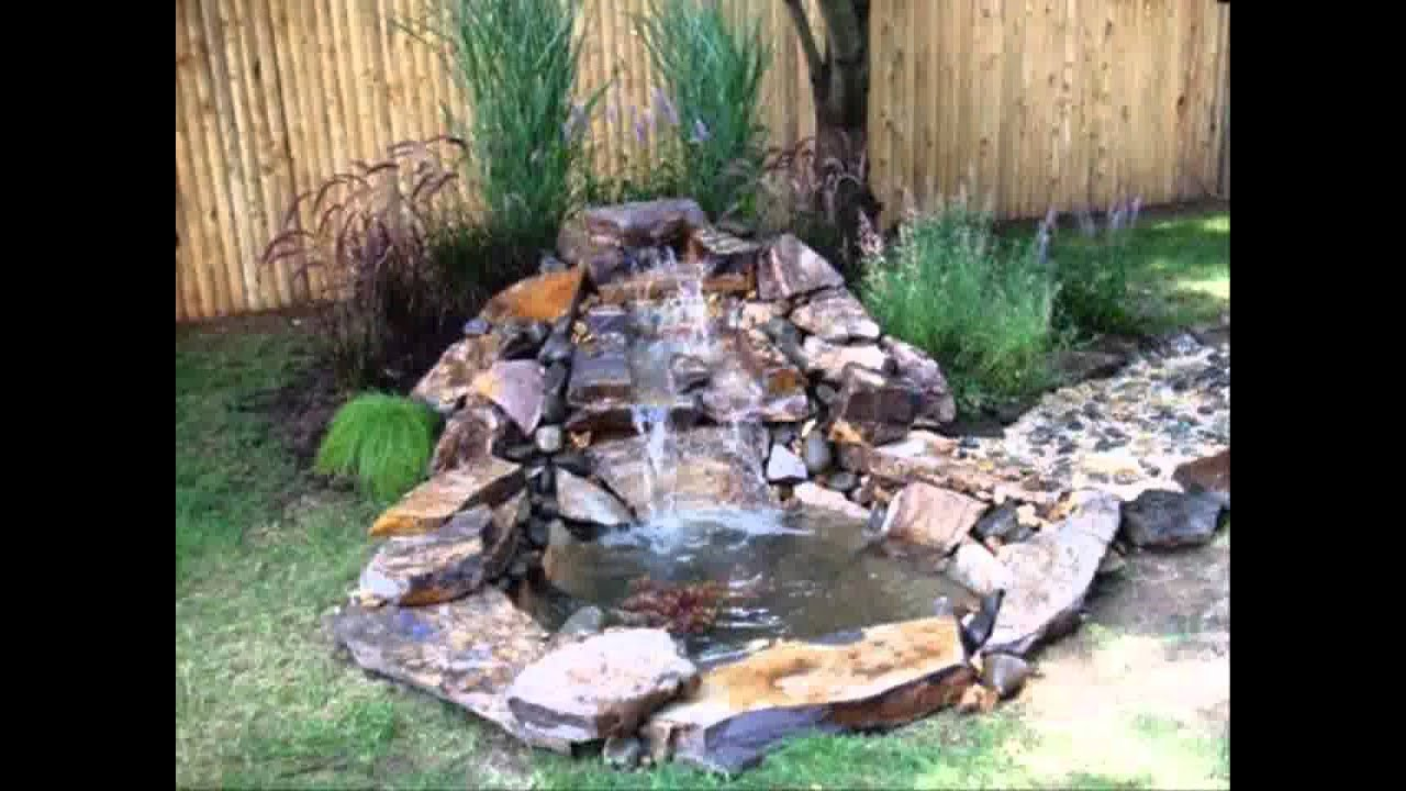 Small Home garden ponds and waterfalls ideas - YouTube on Small Backyard Pond With Waterfall  id=71544