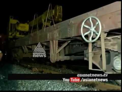Goods Train Derailed in Kozhikkode Chemancheri