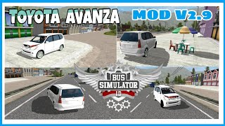 Bussid V2 9 Toyota Avanza New Car Mod How To Install Car Mod For Bus Simulator Indonesia Youtube