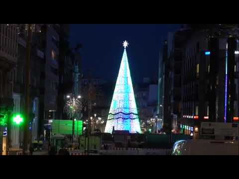 Vigo prueba sus espectaculares luces de Navidad