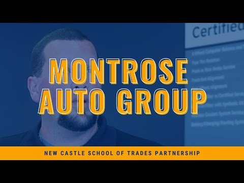 New Castle School of Trades partnership with Montrose Auto Group