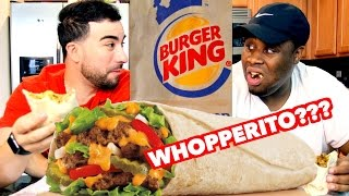 WHOPPERITO taste test REACTION