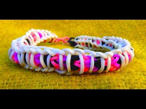 bracelet lastique rainbow loom spirale en fran ais youtube. Black Bedroom Furniture Sets. Home Design Ideas