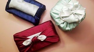 명절선물할 때 보자기 예쁘게 묶는 법│How to wrap Clothes -[포인트팁]