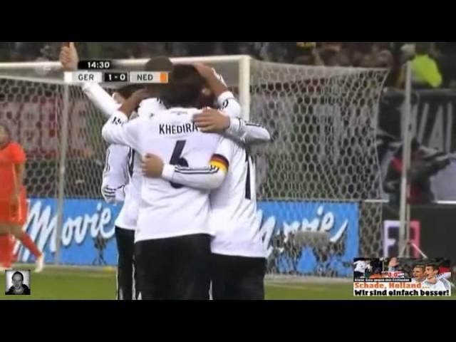 Deutschland - Niederlande 3:0 (alle Tore) 15.11.11 #1