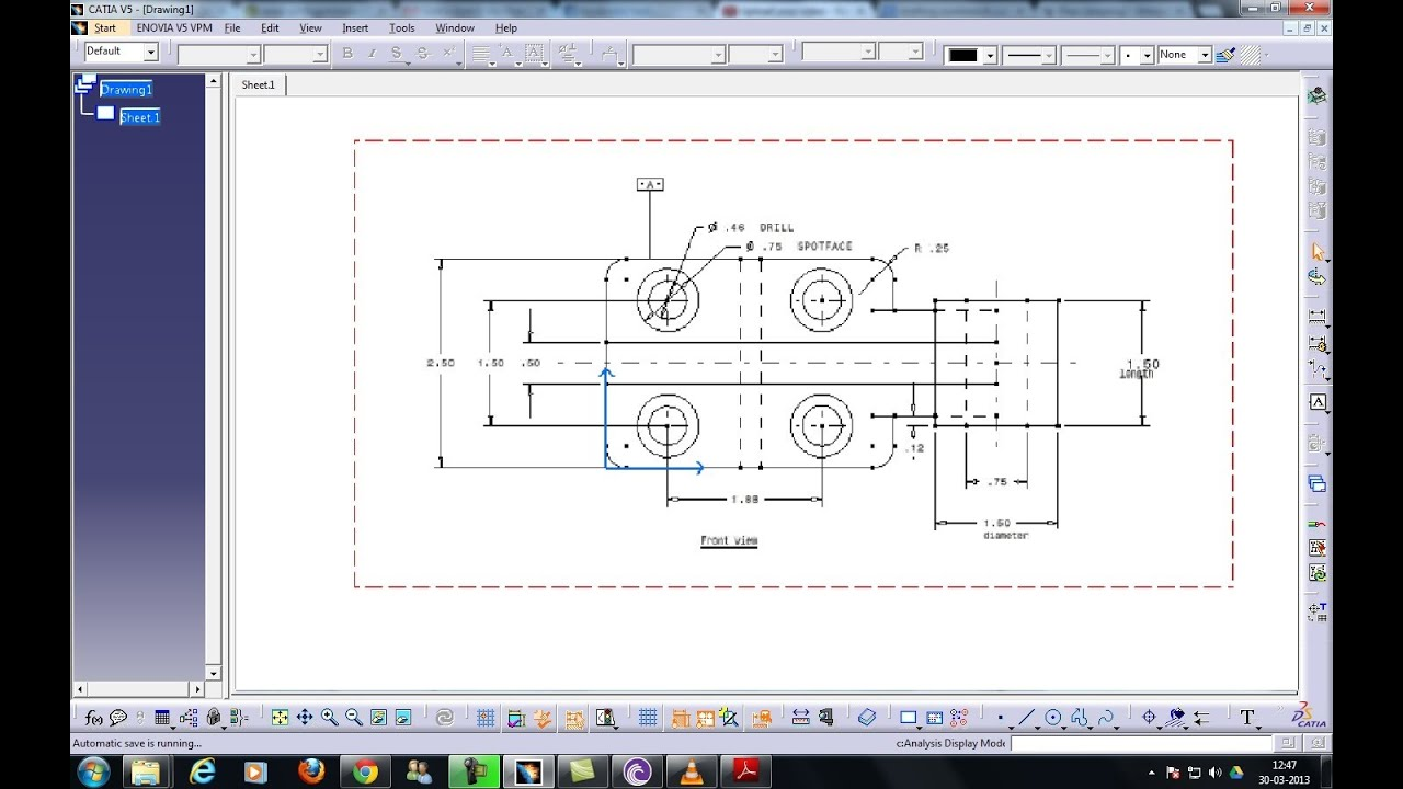 Catia V5 Drafting Inserting Frames And Title Block