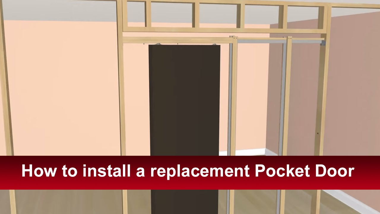 How To Install Acmes Pocket Door And Hardware Youtube